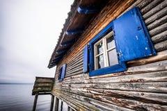 Alter Boathouse Stockfoto