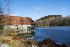 Alter Boathouse Stockbild