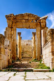 Alter Bogen von in Jerash Stockfotografie