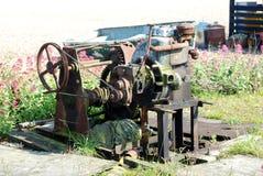 Alter Bootswicklungsgang an der Küste Lizenzfreie Stockfotografie