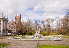 Alter botanischer Garten Münchens Stockfoto