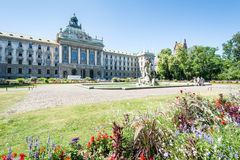 Alter Botanischer Garten and Palace of Justice in Munich Stock Photography