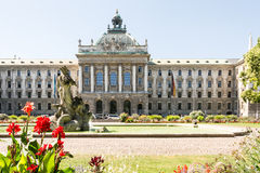 Alter Botanischer Garten and Palace of Justice in Munich Royalty Free Stock Photos