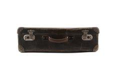 Alter brauner Koffer für Reise Stockfotografie