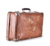 Alter brauner Koffer mit Griff Lizenzfreies Stockbild