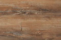Alter brauner rustikaler hölzerner Hintergrund, Holzoberfläche mit Kopienraum Brett, Beschaffenheit Stockfoto