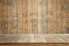 Alter Bretterboden mit hölzerner Wand oder hölzerne Planken für Hintergrund lizenzfreie stockbilder