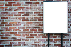 Alter brickl und Aufkleberhintergrund Stockfotos