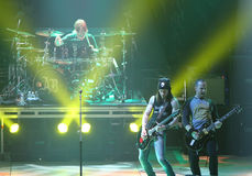 Alter Bridge live concert - guitar's duet Royalty Free Stock Photos
