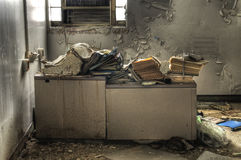 Alter Büro-Schreibtisch Stockfotografie