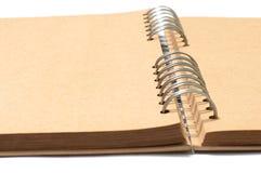 Alter Brown befleckter Buch-Anmerkungshintergrund stockfoto