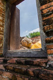 Alter Buddha in 500 Jahren in Ayutthaya Lizenzfreies Stockbild