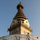Alter buddhistischer religiöser Komplex Swayambhunath Stockfotos
