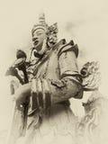 Alter Budha-Statuen-Weinleseeffekt Lizenzfreie Stockfotografie