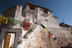Alter budhist Tempel in Basgo, Ladakh, Indien Lizenzfreie Stockbilder