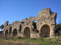 Alter Burg İn Side. Alter Burg Manavgat Royalty Free Stock Photography