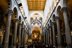 Alter of the Cathedral of Pisa royalty free stock photography