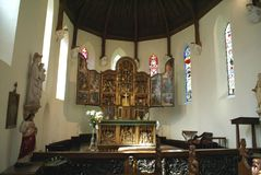 Alter. Chapel of St Margaret and Our Lady in Oxborough, England Royalty Free Stock Photography