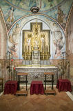 The alter of the Chapel of the Virgin to Our Lady of Miracles, the church where Christopher Columbus prayed the night before his v Stock Image