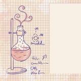 Alter Chemielaborhintergrund Lizenzfreies Stockfoto