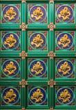 Alter Chinese Dragon Pattern Stockbilder