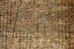 Alter chinesischer feng shui Text Lizenzfreie Stockfotografie