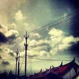 Alter chinesischer Tempel Melaka der Himmelansicht Lizenzfreie Stockfotos