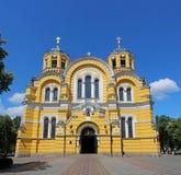 Alter christlicher Kathedralentempel des Heiligen Vladimir stockfotos
