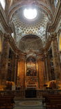 Alter at Church of Sant'Andrea della Valle, Rome, Italy. Alter of baroque Church of Sant'Andrea della Valle in Rome, Italy Stock Image