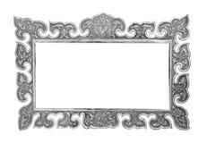 Alter dekorativer silberner Rahmen - handgemacht Lizenzfreies Stockbild