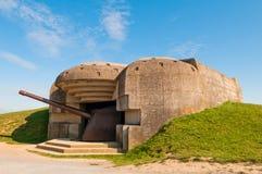 Alter deutscher Bunker Stockfoto