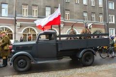 Alter deutscher LKW Opel Blitz Stockbild