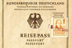 Alter deutscher Reise-Pass Lizenzfreie Stockfotografie