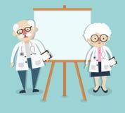 Alter Doktor auf Darstellung Lizenzfreies Stockbild