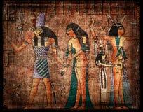 Alter egyrtian Papyrus Lizenzfreies Stockfoto