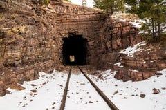 Alter Eisenbahn-Tunnel Stockbilder