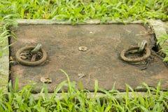 Alter Eisenring, der rostig ist lizenzfreies stockbild