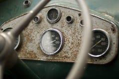 Alter elektrischer Bus-Armaturenbrett lizenzfreies stockbild