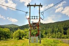 Alter elektrischer Generator stockfotos