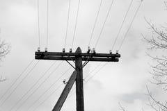 Alter elektrischer Pole Lizenzfreies Stockbild
