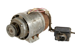 Alter Elektromotor (getrennt) Stockfoto
