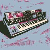Alter elektronischer synthesizer Lizenzfreie Stockfotos