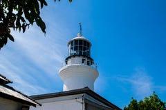 Alter englischer Leuchtturm mitten in Dschungel in Penang Lizenzfreie Stockfotografie