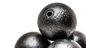 Alter explosiver Granatenstapel Stockfotografie