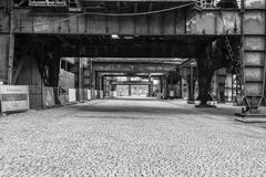 Alter Fabrikhochofen stockfoto