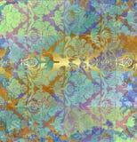 Alter farbiger Blumenhintergrund der Weinlese Lizenzfreies Stockbild