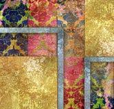 Alter farbiger Blumenhintergrund der Weinlese Lizenzfreie Stockbilder
