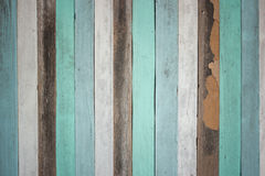 Alter farbiger hölzerner Hintergrund Stockbilder