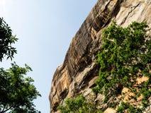 Alter Felsen Sigiriya in Sri Lanka stockbilder