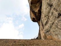 Alter Felsen Sigiriya in Sri Lanka stockfotografie